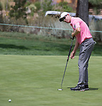 David Hearn putts on the 5th hole during the Barracuda Championship PGA golf tournament at Montrêux Golf and Country Club in Reno, Nevada on Thursday, July 25, 2019.