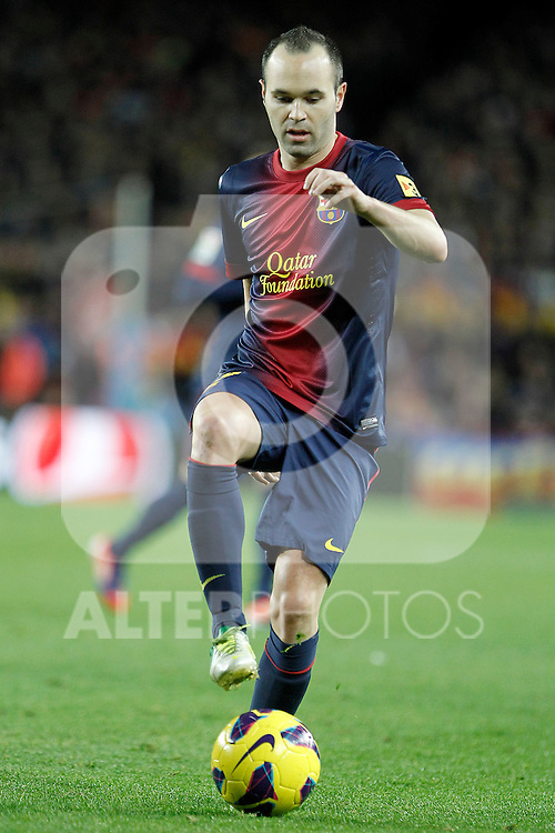 FC Barcelona's Andres Iniesta during La Liga match.December 16,2012. (ALTERPHOTOS/Acero)