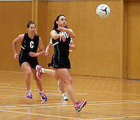 26.10.2013 Silver Fern Joline Henry in action during the Silver Ferns trainig ahead of the second test match against Malawi in Napier. Mandatory Photo Credit ©Michael Bradley.