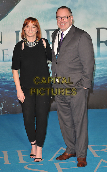 Sarah Bradshaw &amp; guest attend the &quot;In The Heart Of The Sea&quot; European film premiere, Empire cinema, Leicester Square, London, UK, on Wednesday 02 December 2015.<br /> CAP/CAN<br /> &copy;CAN/Capital Pictures