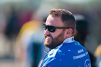 Oct 19, 2019; Ennis, TX, USA; Crew member for NHRA funny car driver Tommy Johnson Jr during qualifying for the Fall Nationals at the Texas Motorplex. Mandatory Credit: Mark J. Rebilas-USA TODAY Sports