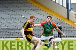 Ger Hartnett Mid Kerrykeeps tight to Colm Cooper Dr Crokes during their SFC clash in Fitzgerald Stadium on Sunday
