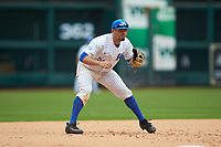 Luke Heyer (26) of the Kentucky Wildcats on defense against the Sam Houston State Bearkats during game four of the 2018 Shriners Hospitals for Children College Classic at Minute Maid Park on March 3, 2018 in Houston, Texas. The Wildcats defeated the Bearkats 7-2.  (Brian Westerholt/Four Seam Images)