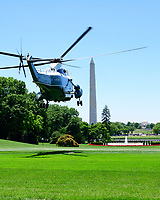 Marine One, with United States President Donald J. Trump aboard, takes off from the South Lawn of the White House in Washington, DC as the President begins his trip to Iowa.  He will return this evening. Photo Credit: Ron Sachs/CNP/AdMedia