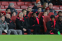 Arsene Wenger (Coach) (3rd left) during the UEFA Europa League match between Arsenal and FC BATE Borisov  at the Emirates Stadium, London, England on 7 December 2017. Photo by David Horn.