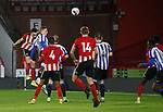 Kean Bryan of Sheffield Utd directs a header and just misses during the Professional Development League match at Bramall Lane, Sheffield. Picture date: 26th November 2019. Picture credit should read: Simon Bellis/Sportimage