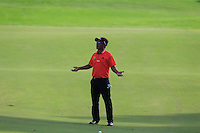 Thongchai Jaidee (THA) on the 15th fairway during the Pro-Am for the DP World Tour Championship at the Jumeirah Golf Estates in Dubai, UAE on Monday 16/11/15.<br /> Picture: Golffile | Thos Caffrey<br /> <br /> All photo usage must carry mandatory copyright credit (&copy; Golffile | Thos Caffrey)