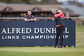 3rd October 2017, The Old Course, St Andrews, Scotland; Alfred Dunhill Links Championship, practice round; Scott Jamieson of Scotland tees off on the seventeeth hole on the Old Course, St Andrews during a practice round before the Alfred Dunhill Links Championship