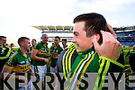 Paul Murphy. Kerry players celebrate their victory over Donegal in the All Ireland Senior Football Final in Croke Park Dublin on Sunday 21st September 2014.