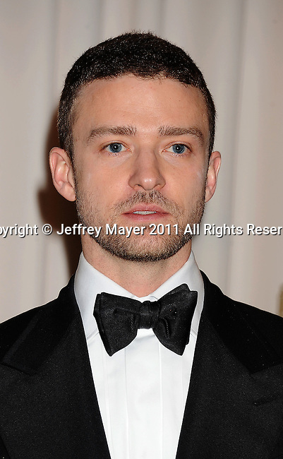 HOLLYWOOD, CA - FEBRUARY 27: Justin Timberlake poses in the press room during the 83rd Annual Academy Awards held at the Kodak Theatre on February 27, 2011 in Hollywood, California.