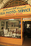 Israel, Jerusalem Old City, Elia Photo Service at the Christian Quarter