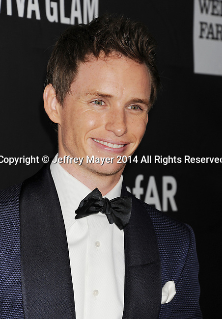HOLLYWOOD, CA- OCTOBER 29: Actor Eddie Redmayne attends amfAR LA Inspiration Gala honoring Tom Ford at Milk Studios on October 29, 2014 in Hollywood, California.