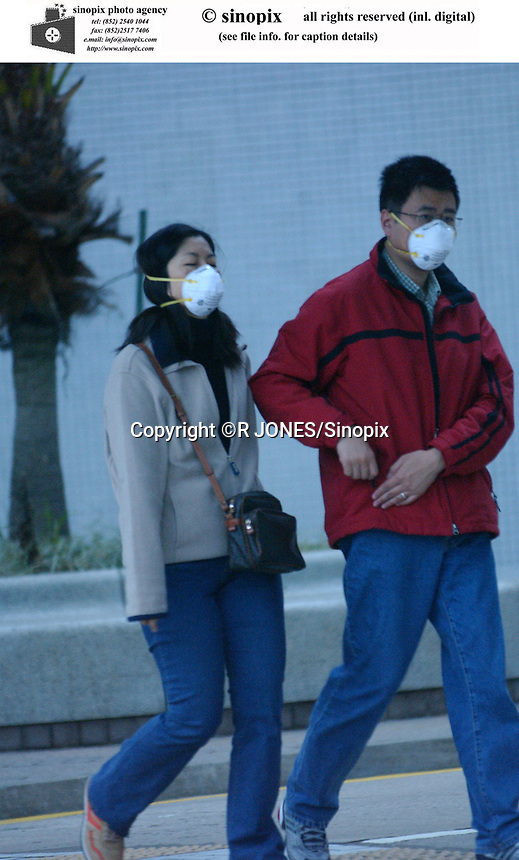 HONG KONG SARS OUTBREAK<br /> People are wearing masks to protect themselves from Sars virus.