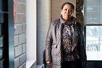 Isabel Lopez, 50, of Hyde Park, Boston, Massachusetts, has been a community organizer in the Brockton, Massachusetts, USA, for the past 8 years. She is seen here in Jamaica Plain, Boston, Massachusetts.