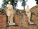 Statues of Emperor Tiberius and Nero Claudius Drusus, Aula Sacra, Merida, Extremadura, Spain