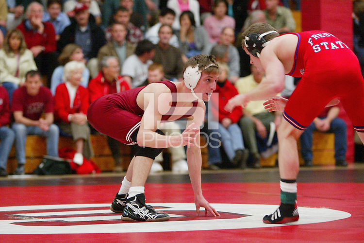4 February 2005: Stanford Cardinal Nathan Peterson during Stanford's 25-12 loss to Fresno State at Burnham Pavilion in Stanford, CA.