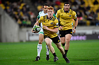 Hurricanes&rsquo; Finalay Christie in action during the Super Rugby - Hurricanes v Lions at Westpac Stadium, Wellington, New Zealand on Saturday 5 May 2018.<br /> Photo by Masanori Udagawa. <br /> www.photowellington.photoshelter.com