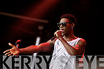 Ovie Etseyatse performing on the Denny Street stage on Friday before Union J.