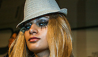 A model presents a creation by Carlos Diez  during the Pasarela Cibeles fashion show 2005, February 17, 2005 in Madrid. Photo by Victor Fraile / studioEAST