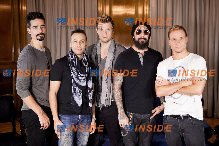 Kevin Richardson, Howie Dorough, Nick Carter,  AJ McLean and Brian Littrell of the Backstreet Boys attend their new music album &quot;In A World Like This&quot; presentation at Palace Hotel on November 12, 2013 in Madrid, Spain. (ALTERPHOTOS/Victor Blanco) <br /> Foto Insidefoto