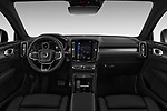 Stock photo of straight dashboard view of a 2019 Volvo XC40 R-Design 5 Door SUV