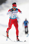 Yoshihiro Nitta (JPN),<br /> MARCH 14, 2018 - Cross-Country Skiing : <br /> Men's Sprint 1.5 km Standing Qualification<br /> at Alpensia Biathlon Centre   <br /> during the PyeongChang 2018 Paralympics Winter Games in Pyeongchang, South Korea. <br /> (Photo by Yusuke Nakanishi/AFLO SPORT)