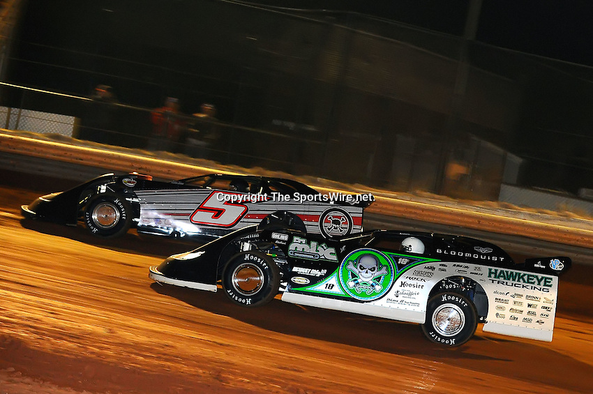 Jan 28, 2010; 7:56:43 PM; Waynesville, GA., USA; The Southern All Stars Racing Series running The Super Bowl of Racing VI at Golden Isles Speedway.  Mandatory Credit: (thesportswire.net)
