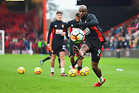 Benik Afobe of AFC Bournemouth warms up during AFC Bournemouth vs Wigan Athletic, Emirates FA Cup Football at the Vitality Stadium on 6th January 2018