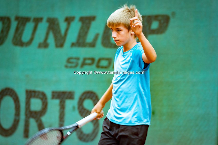Hilversum, Netherlands, August 8, 2018, National Junior Championships, NJK, Manvydas Balciunas (NED)<br /> Photo: Tennisimages/Henk Koster