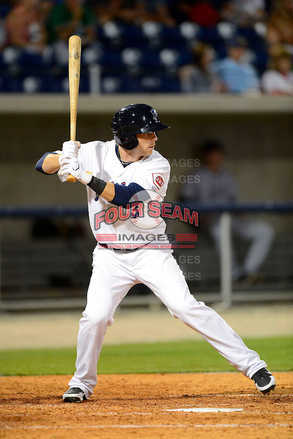 Pensacola Blue Wahoos outfielder Bryson Smith #3 during a game against the Jacksonville Suns on April 15, 2013 at Pensacola Bayfront Stadium in Pensacola, Florida.  Jacksonville defeated Pensacola 1-0 in 11 innings.  (Mike Janes/Four Seam Images)