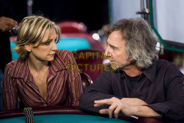 CURTIS HANSON (DIRECTOR) & JENNIFER HARMON.on the set of Lucky You.*Editorial Use Only*.www.capitalpictures.com.sales@capitalpictures.com.Supplied by Capital Pictures.