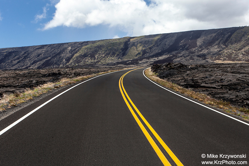 Chain of Craters Road in Hawaii Volcanoes National Park, Big Island, Hawaii