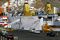 Fred Olsen ferry in Santa Cruz de Tenerife, destination Las Palmas, Gran Canaria.   Canary Islands, Spain