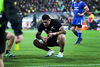 NZ's Vaea Fifita during the Steinlager Series international rugby match between the New Zealand All Blacks and France at Westpac Stadium in Wellington, New Zealand on Saturday, 16 June 2018. Photo: Dave Lintott / lintottphoto.co.nz