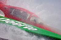 Steve David brings the Oh Boy! Oberto to the dock..Madison Regatta, Madison Indiana July 3, 2005.Photo Credit: ©F.Peirce Williams 2005