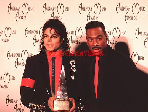 Michael Jackson & Eddie Murphy 1989 American Music Awards..© Chris Walter..