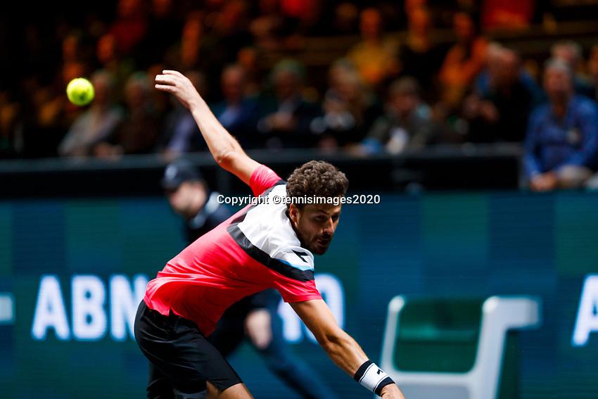 Rotterdam, The Netherlands, 12 Februari 2020, ABNAMRO World Tennis Tournament, Ahoy. Robin Haase (NED).<br /> Photo: www.tennisimages.com