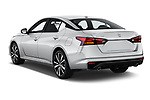 Car pictures of rear three quarter view of 2019 Nissan Altima SR-FWD 4 Door Sedan Angular Rear