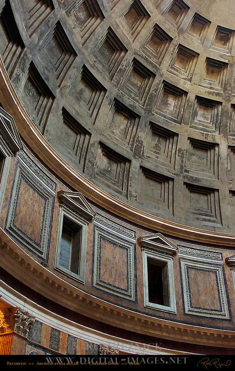 Coffered Concrete Dome detail  Pantheon Campus Martius Rome