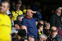 Oxford United supporters look on during the Sky Bet League 1 match between Peterborough and Oxford United at the ABAX Stadium, London Road, Peterborough, England on 30 September 2017. Photo by David Horn.