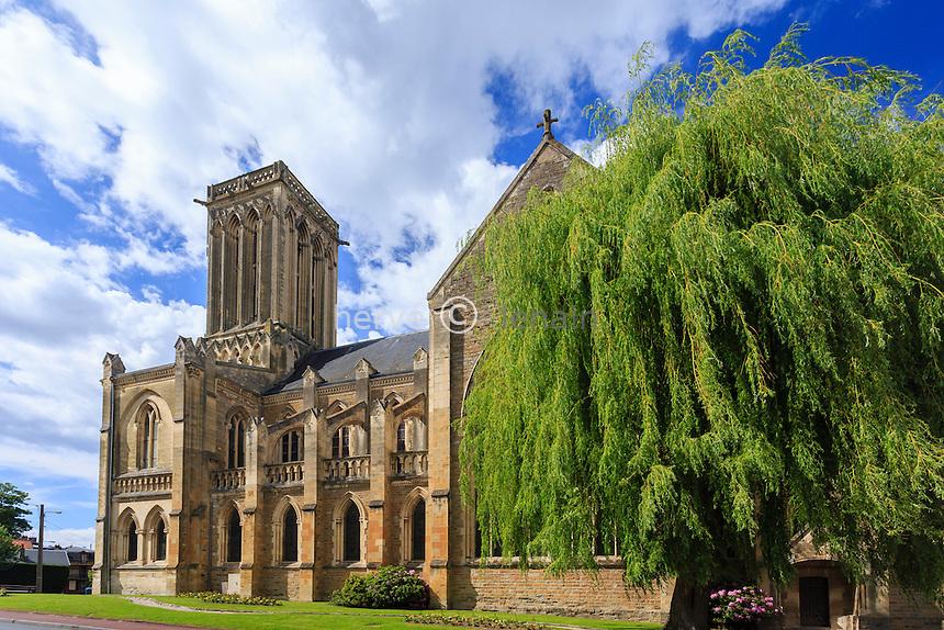 France, Calvados (14), Villers-sur-Mer, l'église // France, Calvados, Villers sur Mer, the church