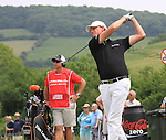 Maarten Lafeber teeing off on the 6th on day three of the Celtic Manor wales Open 2010.Picture Fran Caffrey/Newsfile.ie