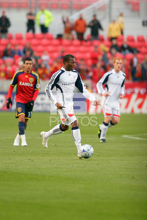 New England Revolution Midfielder Sainey Nyassi (31) in the Real Salt Lake 6-0 win over New England Revolution, April 25, 2009 at Rio Tinto Stadium in Sandy, Utah.