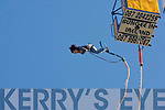 Tralee IT student,Katie Christie(Ballyheigue),raised much needed funds for charity,by doing a bungee jump from the 175ft high cage above the south campus carpark,Clash,Tralee last Monday morning at the start of RAG week..