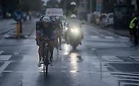 Niki Terpstra (NED/Etixx-QuickStep) leading the race in the rain<br /> <br /> 12th Eneco Tour 2016 (UCI World Tour)<br /> Stage 7: Bornem › Geraardsbergen (198km)