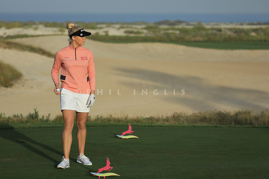 Charley Hull (ENG) during the first round of the Fatima Bint Mubarak Ladies Open played at Saadiyat Beach Golf Club, Abu Dhabi, UAE. 10/01/2019<br /> Picture: Golffile | Phil Inglis<br /> <br /> All photo usage must carry mandatory copyright credit (© Golffile | Phil Inglis)