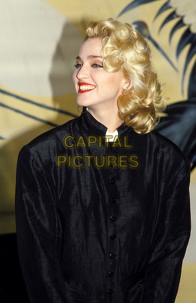 MADONNA.Ref: 026.bleach blonde, peroxide, red lipstick, smiling, half length, half-length.www.capitalpictures.com.sales@capitalpictures.com.© Capital Pictures
