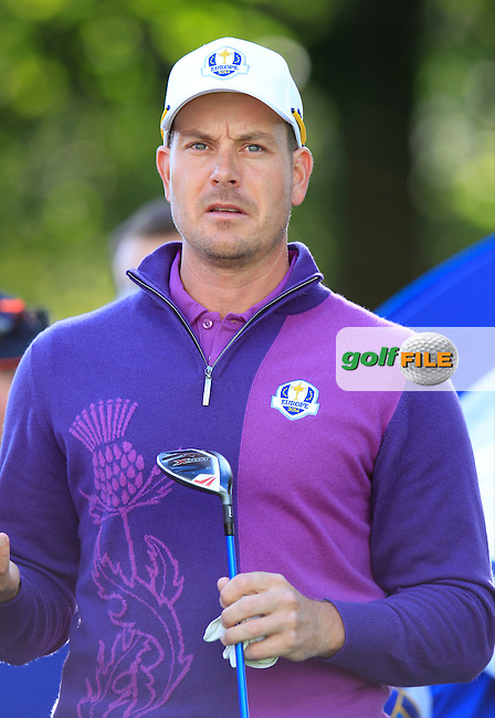 Henrik Stenson (EUR) during Practice on Wednesday at the 40th Ryder Cup, The Gleneagles Hotel, Perthshire from 26th to 28th September 2014<br /> Picture Eoin Clarke, www.golffile.ie