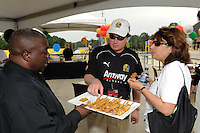 Brian and Nancy NeSmith during the Women's Professional Soccer (WPS) VIP reception at KSU Stadium in Kennesaw, GA, on June 30, 2010.