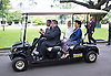 """Jakarta, 2012-11-26: CROWN PRINCESS METTE-MARIT AND CROWN PRINCE HAAKON OF NORWAY.visit the Presidential Palace, where they were met by President Susilo Bambang Yudhoyono of Indonesia and wife Kristiani Herrawati..They President gave them a buggy tour of the residence..The Royal couple are on a tour of Indonesia.Mandatory Credit Photo: ©NEWSPIX INTERNATIONAL..**ALL FEES PAYABLE TO: """"NEWSPIX INTERNATIONAL""""**..IMMEDIATE CONFIRMATION OF USAGE REQUIRED:.Newspix International, 31 Chinnery Hill, Bishop's Stortford, ENGLAND CM23 3PS.Tel:+441279 324672  ; Fax: +441279656877.Mobile:  07775681153.e-mail: info@newspixinternational.co.uk"""